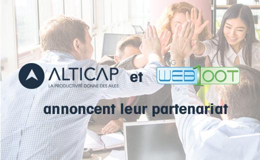 partenariat Alticap et Web100t