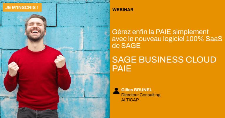 Vignette replay webinar Sage Business Cloud Paie