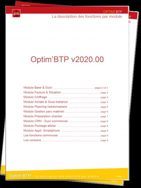 Apercu fiche presentation des fonctionnalités des modules Optim'BTP